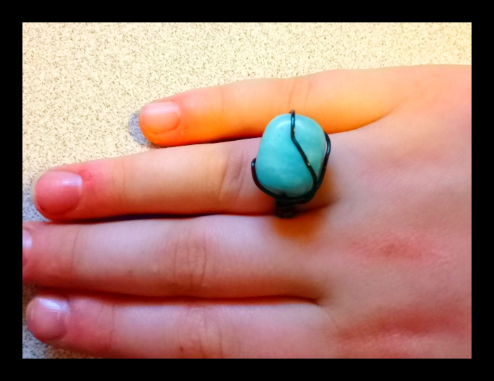 Beautiful Amazonite Ring from Blue Soul Designs